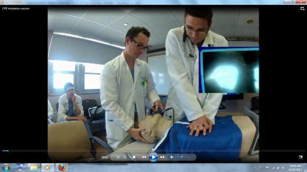 Medical students being taught intubation by James DuCanto