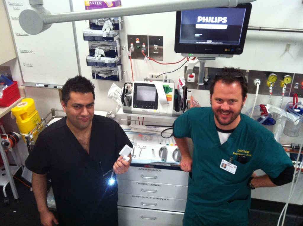 Amit and Andy in resus bay