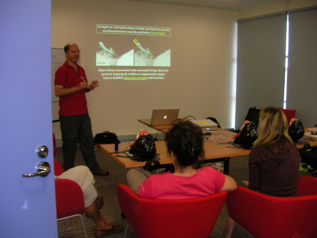 levitan at 2009 airway workshop Cairns RFDS