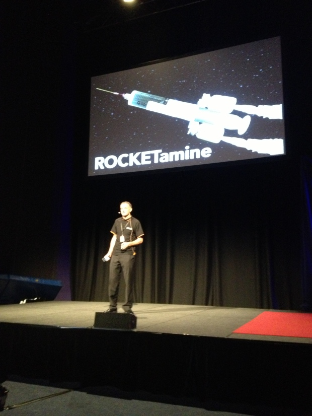 Dr Cliff Reid reveals Rocketamine to the world at SMACC 2013