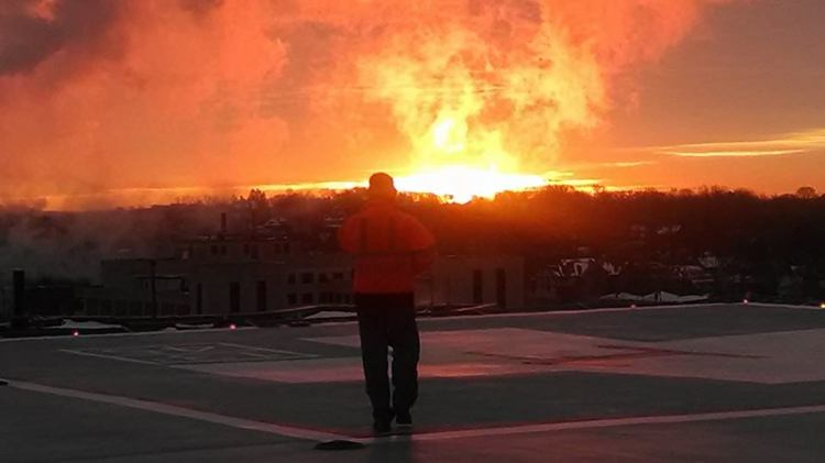Sunrise over Wisconsin