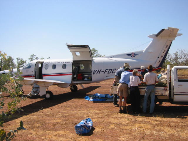 RFDS Mt Isa aeromedical team on primary trauma retrieval