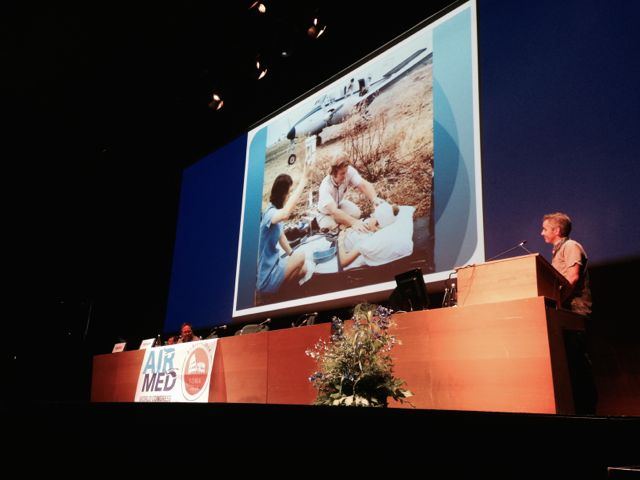 RFDS Dr Adam Pritchard presents at AirMed2014 in Rome
