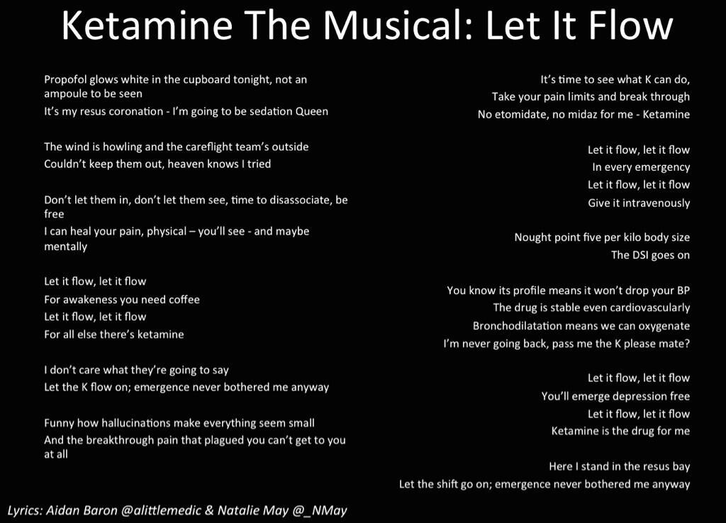 Lyric frozen let it go lyrics : PHARM PODCAST 97 : KETAMINE THE MUSICAL – LET IT FLOW ...