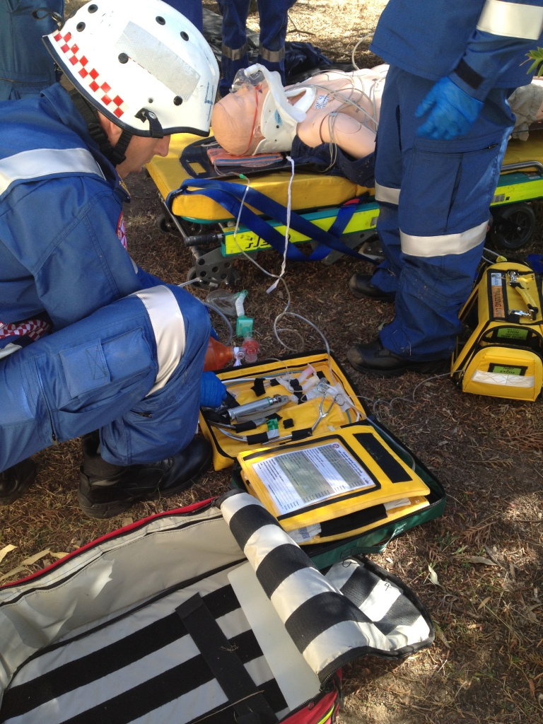 RSI kit dump at Sydney HEMS induction training