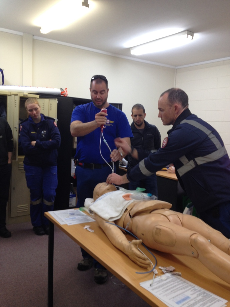 Dr Geoff Healy showing the Ambu Ascope