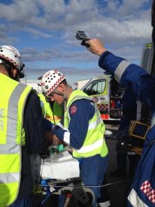 SCAT Paramedic Martin Pearce tubing like a boss!