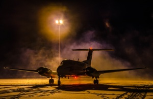 This is the King Air 200 that's based in Inuvik NT.