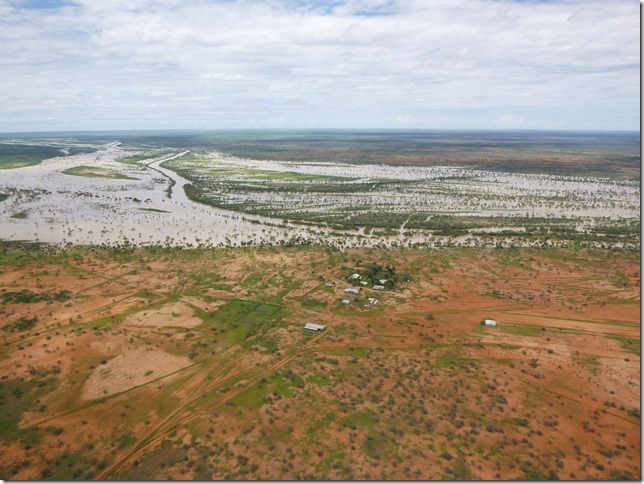 Linda Downs station & the mighty Georgina River in flood