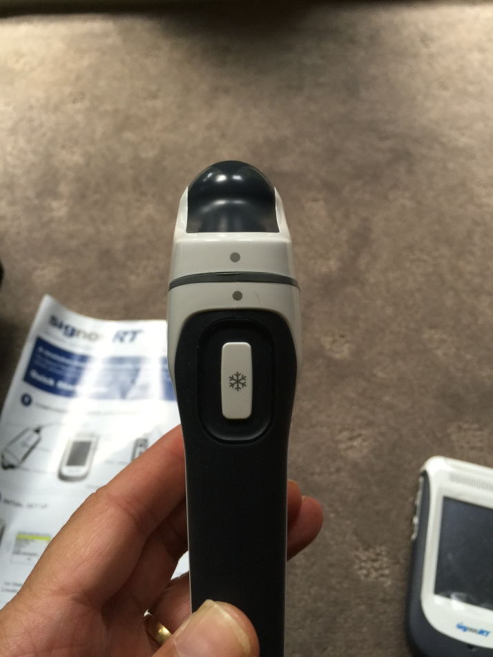 Probe profile with scan button
