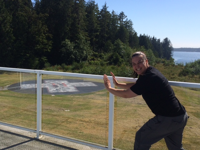 Decommissioned Tofino Hospital Helipad but Andrea wants it back!