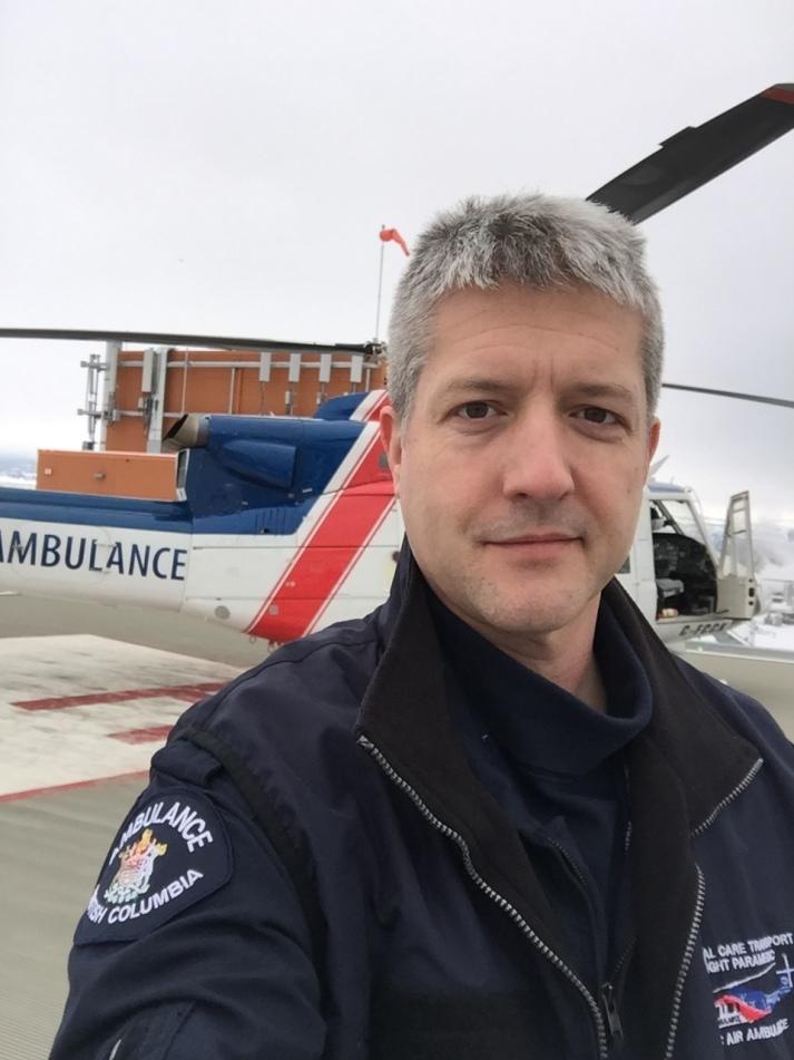 Critical Care Flight Paramedic Greg Schmor