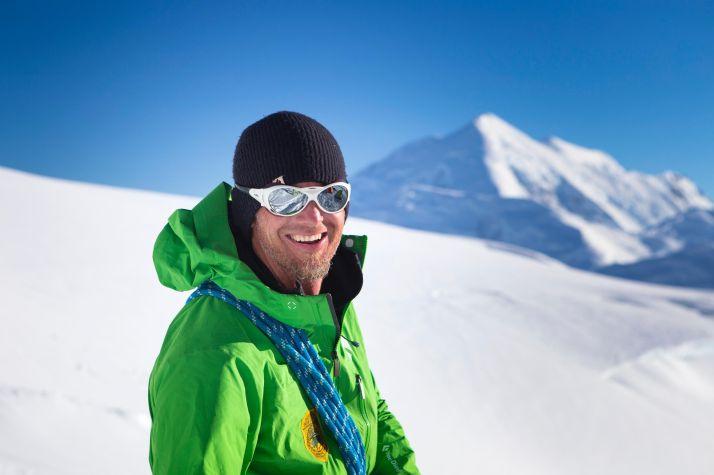 Weber at 11,200 feet during a Denali rescue patrol this past summer (photo Menno Boermans)